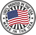 Made in the USA logo for book printing