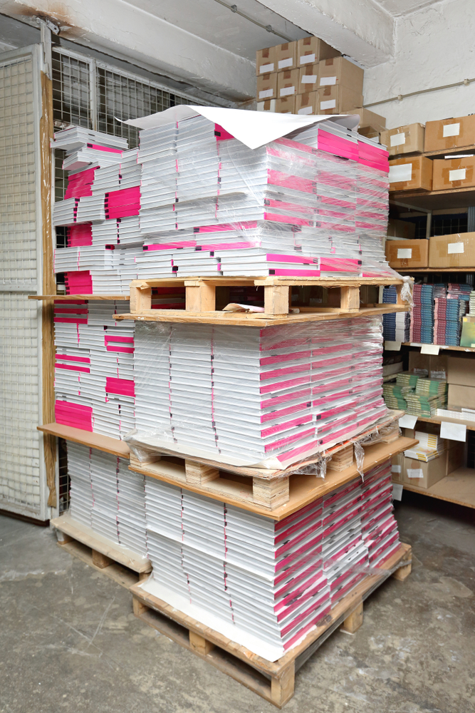 Pallet of books printed by a great self-publishing book company