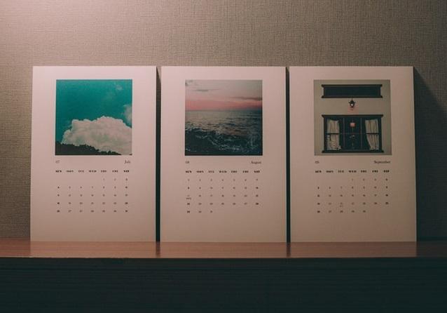 A custom printed wall calendar template