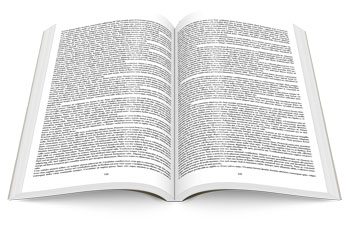 Book manuscript format text only